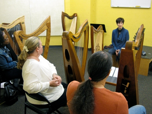 Teaching at Dusty Strings Harp Symposium 2011